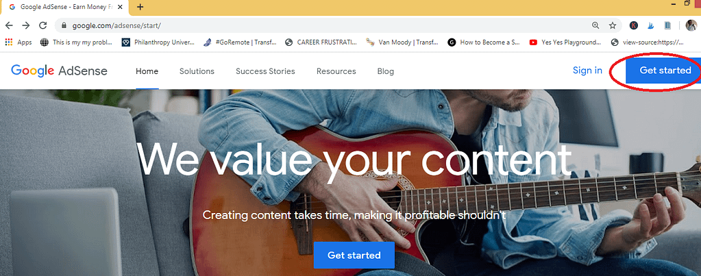 getting started on google adsense