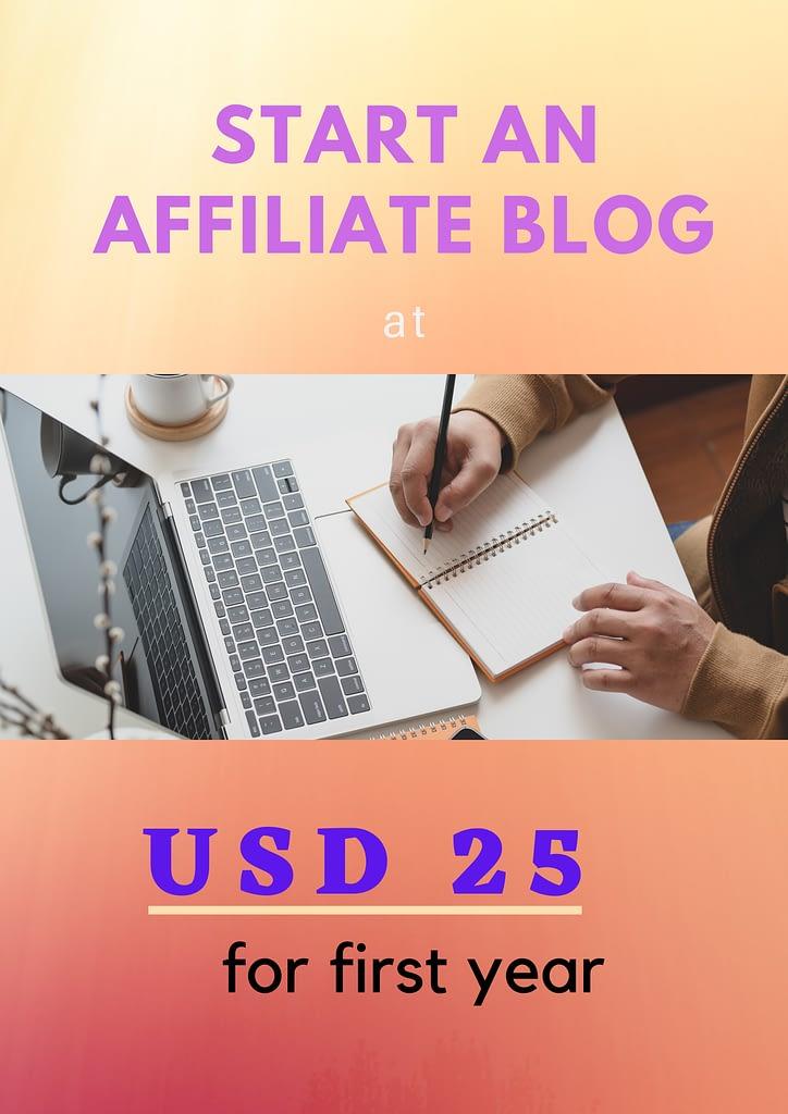 start blog at 25$